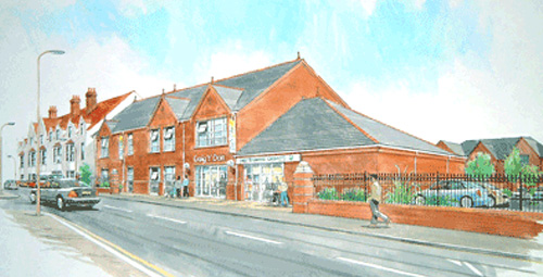 Drawing of the Meddygfa Craig Y Don Medical Practice